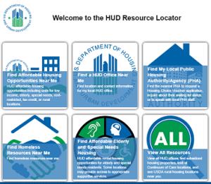 HUD housing locator